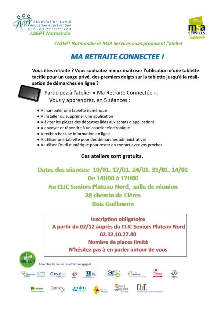 thumbnail of Affiche ma retraite connectée CLIC Plateau Nord