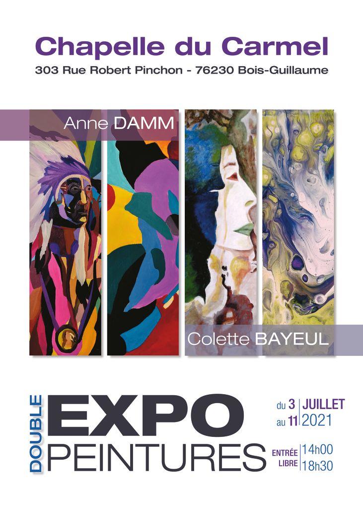 thumbnail of 03-11-07-2021-Affiche – DOUBLE EXPOSITION DE PEINTURE AVEC ANNE DAMM ET COLETTE BAYEUL